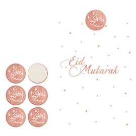 Gift bags Eid white/rose gold (6pcs)