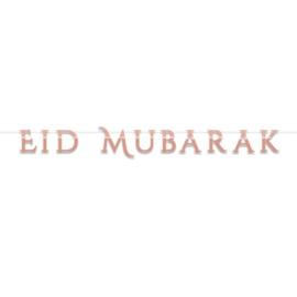 Slinger Eid Mubarak rose goud modern