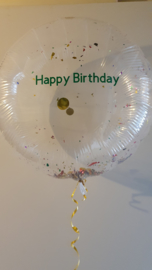 Personalised text for balloon