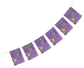Eid bunting purple