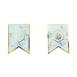 Eid bunting marble gold foil