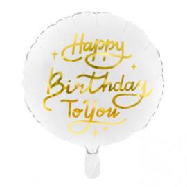 Foil balloon Happy Birthday gold