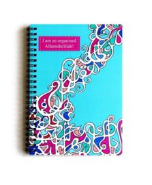 Notitieboekje organised Alhamidulillah