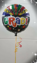 Ballon graduation colors met helium