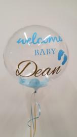 Baby ballon met tekst