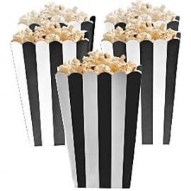 Treat box black stripes (5pcs)