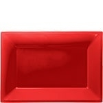 Serving platters red (set of 3)