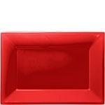 Serveerschalen rood (3st)