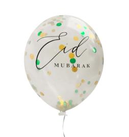 Eid ballonnen mint groen confetti mix (6st)
