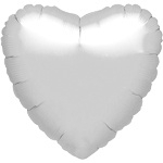 Foil balloon heart silver