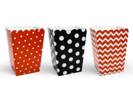 Popcorn box mix red (6pcs)
