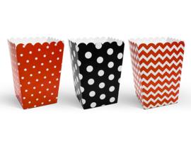 Popcorn box combi rood (6st)