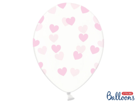 Clear balloons baby pink hearts
