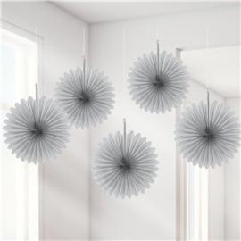 Mini fans zilver (5st)