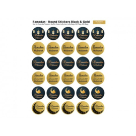 Ramadan Mubarak stickers black/gold