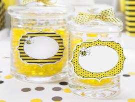Label bee geel