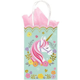 Unicorn giftbag met glitters (pst)