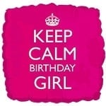 Foil balloon Keep calm birthday GIRL