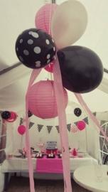 Balloons black polka dot (6pcs)
