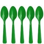 Plastic lepels groen (20st)