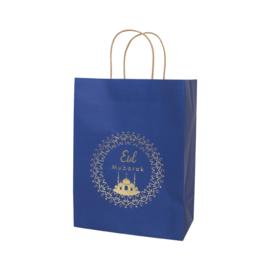 Gift bag Eid blue deluxe (ea)