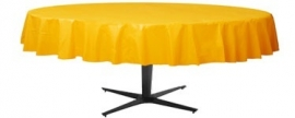 Tablecover round yellow
