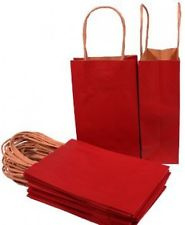 Papieren tasje met bruin handvat