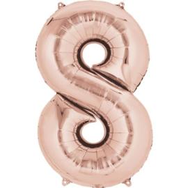 XL foil balloon rose gold 8