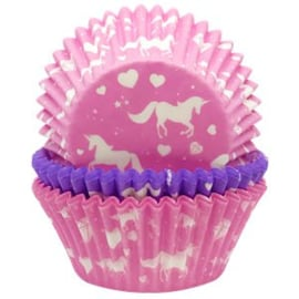 Unicorn cupcake cases (75pcs)
