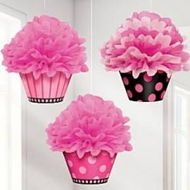 Pompom set cupcakes