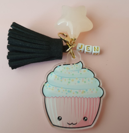 Mini acrylic ornament Kawaii cupcake