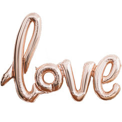 Foil balloon rose gold LOVE