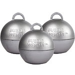 Balloon weight bubble silver (each)