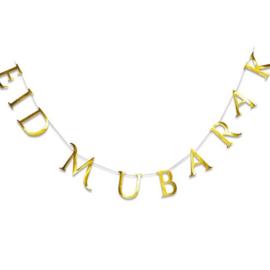 Slinger Eid Mubarak goud modern