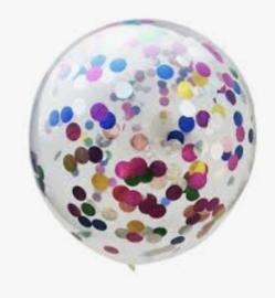 Confettiballon mix folie confetti  (5st)