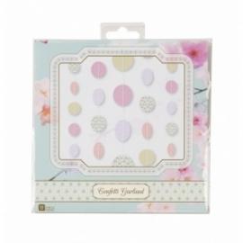 Circle garland pastels