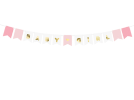 Paper bunting baby girl