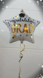 Ballon graduation wit met helium