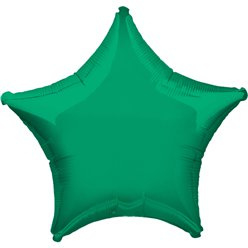 "Mini folie ballon ster groen 5"" (pst)"