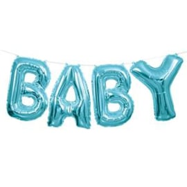 Balloon bunting baby blue