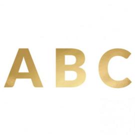 Letterslinger alfabet goud