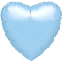 """Foil hart baby blauw 18"""""""