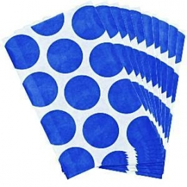 Paper treat bags blue polka (10pcs)