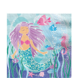 Papieren servetten mermaid (16st)