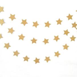 Slinger sterren glimmend goud  3,6m