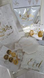 Vlaggenlijn Eid goud wit (6m)