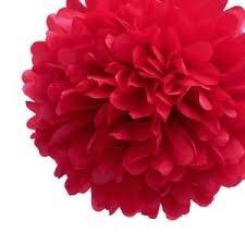 Pompom rood 30cm