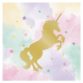 Unicorn party napkins (16pcs)