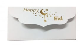 Money envelope white gold foil (2pcs)