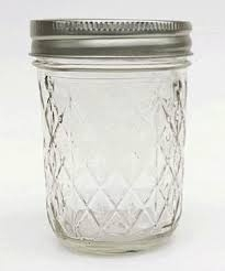 Mason jar quilted crystal 8oz